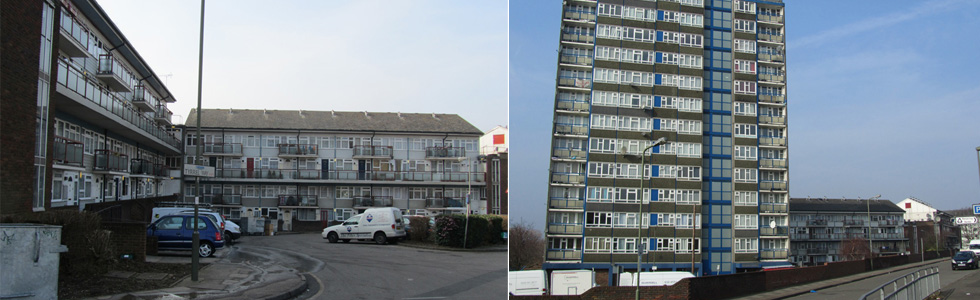 West Hendon, prior to redevelopment