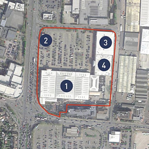Colosseum Retail Park site plan