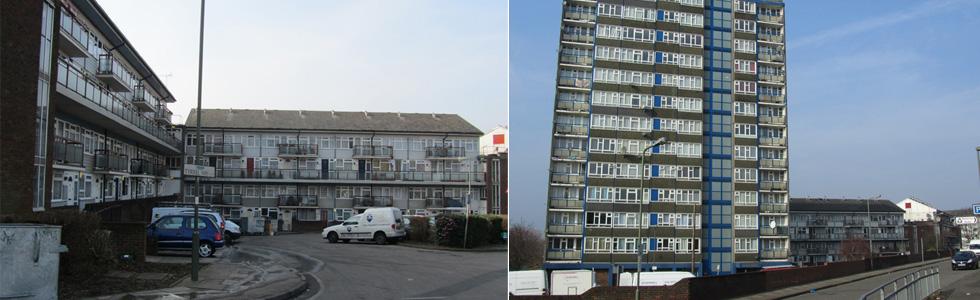 West Hendon, prior to redevelopment